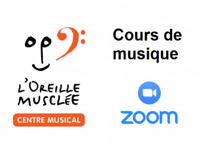 Cours de musique offert en ligne à L'Oreille Musclée Centre Musical