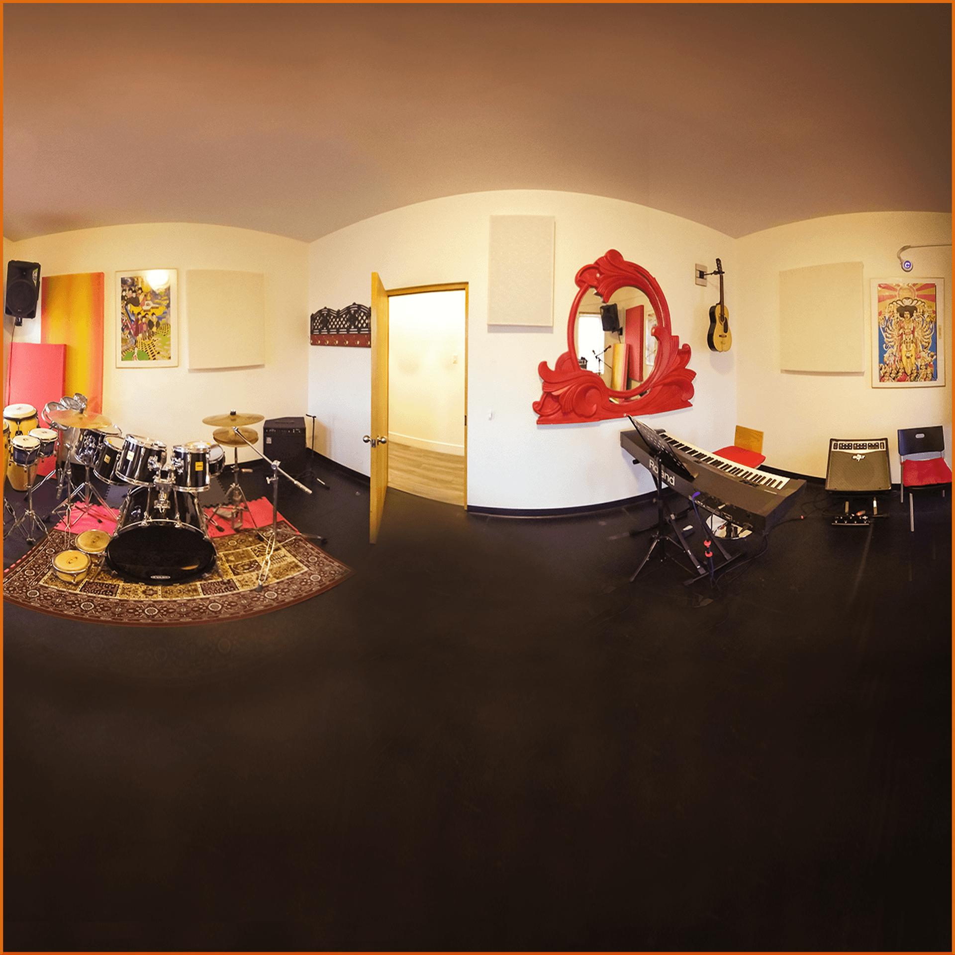 Studio G9 studio capable d'accueillir jusqu'à 8 musiciens et d'enregistrer votre session en 16 pistes séparées