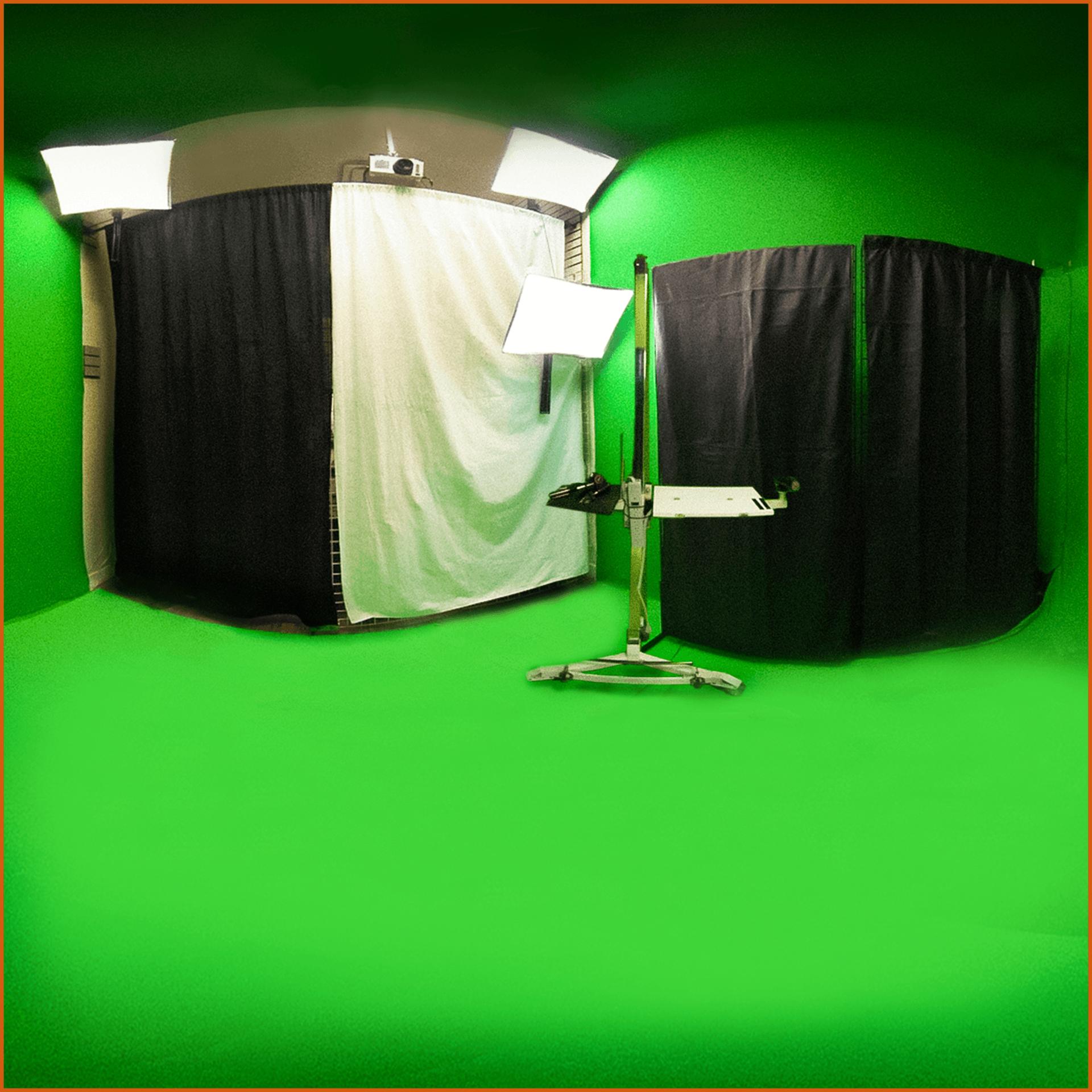 Studio de captation vidéo Écran vert avec accessoires éclairages, trépieds