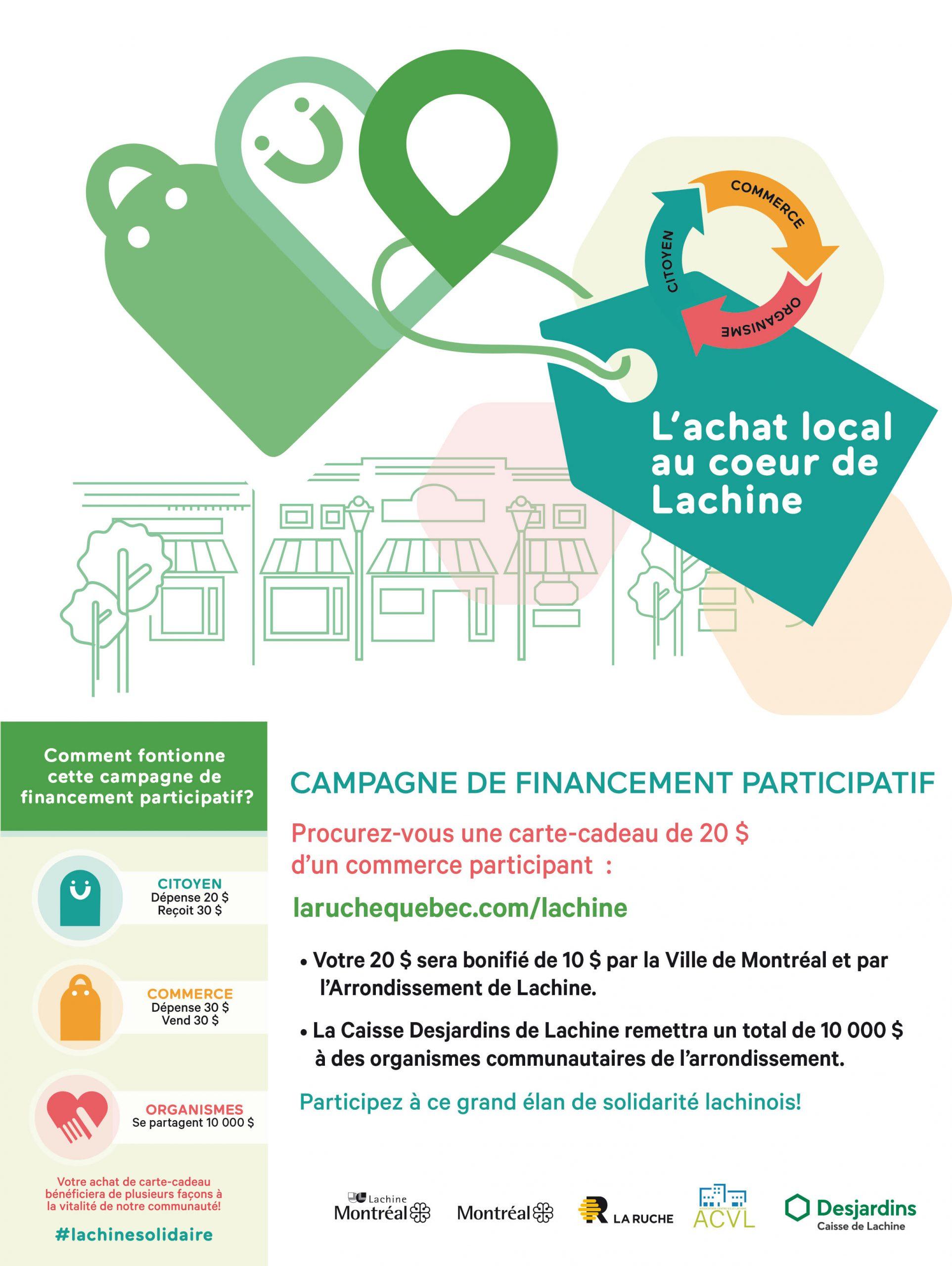 Campagne financement participative rue Notre-Dame Lachine